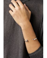 Giles & Brother | Skinny Railroad Cuff W Pave | Lyst