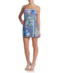 Lilly Pulitzer Jesse Cotton Skort Jumpsuit multicolor - Lyst