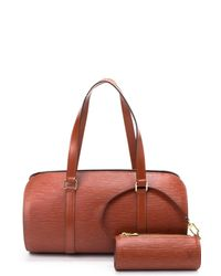 Louis Vuitton Brown Soufflot Handbag - Lyst
