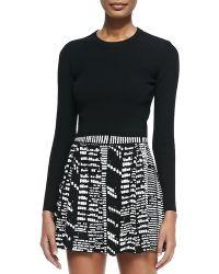 Proenza Schouler Long-sleeve Cropped Sweater - Lyst