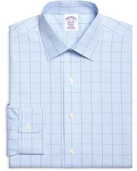 Brooks Brothers Noniron Regular Fit Houndstooth Overcheck Dress Shirt - Lyst
