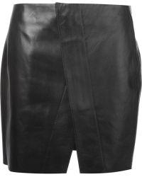Acne Studios Kay Mini Lea Skirt - Lyst