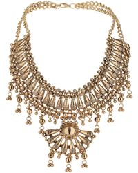 Topshop Fan Section Necklace - Lyst