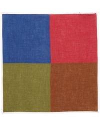 Roda - Colorblock Pocket Square - Lyst