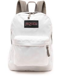Jansport Classic Superbreak Backpack  White - Lyst