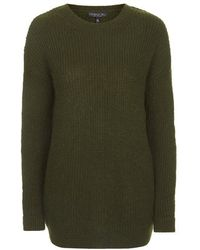 Topshop Tall Ribbed Grunge Jumper - Lyst
