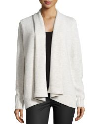 Vince Knit Draped Cardigan - Lyst