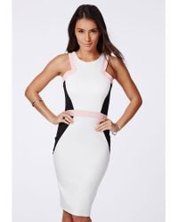 Missguided Portiana Colour Block Bodycon Dress - Lyst