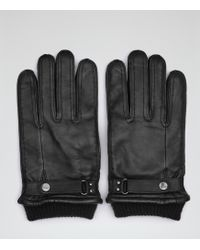 Reiss - Penfold Leather Cuffed Gloves - Lyst