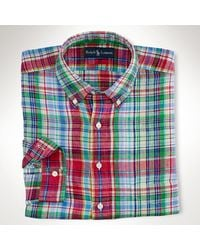 Big & Tall Classicfit Plaid Linen Shirt - Lyst