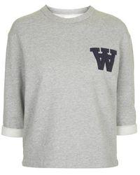 Topshop Hope Sweatshirt By Wood Wood gray - Lyst