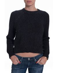 T By Alexander Wang Crop Sweater - Lyst
