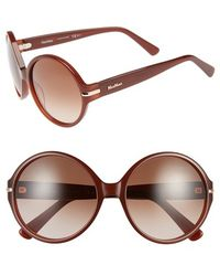 Max Mara Women'S 'Detail I/S' 56Mm Round Sunglasses - Opal Caramel - Lyst