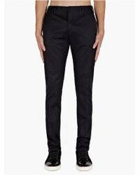 Paul Smith Mens Dark Navy Twill Slim Fit Trousers - Lyst
