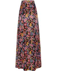 Alice By Temperley Long Lou Lou Skirt floral - Lyst