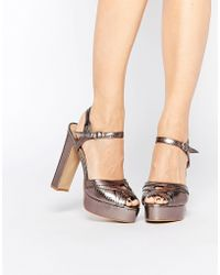 Warehouse - 60's Platform - Gold - Lyst