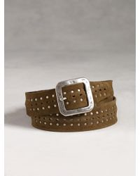 John Varvatos Studded Leather Belt - Lyst