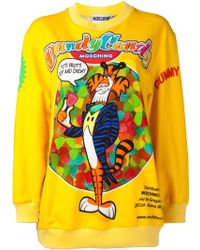 Moschino Graphic Sweater - Lyst