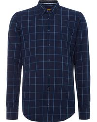 Hugo Boss Long Sleeve Check Shirt - Lyst