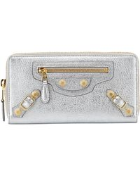 Balenciaga Calfskin Giant Zip Wallet - Lyst