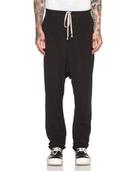 Rick Owens Men'S Drawstring Long Pants - Lyst