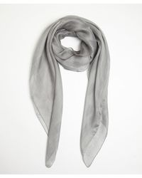 Alexander McQueen Grey and Rose Silk Skull Printed Scarf - Lyst