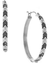 BCBGeneration - Studded Hoop Earrings, 1.3in - Lyst