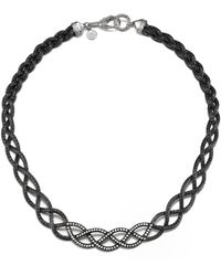 John Hardy Collar Braided Necklace with Black Ruthenium Plating - Lyst