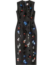 Roksanda Farndon Embellished Dress black - Lyst