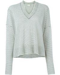 Forte Forte | Striped V-neck Sweater | Lyst