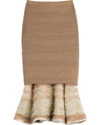 Donna Karan New York Pencil Skirt With Ruffled Hem - Lyst