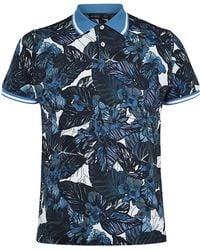 Etro Tropical Print Polo Shirt - Lyst