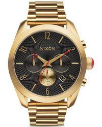 Nixon 'Bullet Chrono' Watch gold - Lyst
