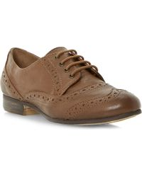 Dune Linfred Leather Lace-up Brogues - Lyst