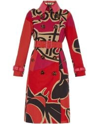 Burberry Prorsum Book Cover Print Trench Coat - Lyst