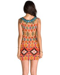 Camilla The Drums Of Tonkin Short Sleeveless Dress in Burnt Orange - Lyst