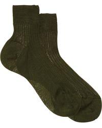 Maria La Rosa Ribbed Sock - Lyst