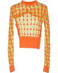 Just Cavalli Orange Jumper - Lyst
