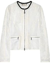 Erdem Bonita Leathertrimmed Lace and Organza Jacket - Lyst