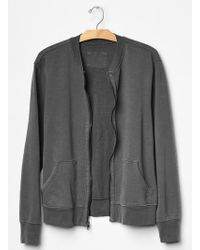 Gap Lived-In French Terry Bomber Jacket - Lyst