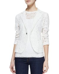 Nanette Lepore The Eyes Have It Eyelet Jacket - Lyst