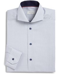 Eton of Sweden Contemporary-Fit Shadow Check Cotton Dress Shirt - Lyst