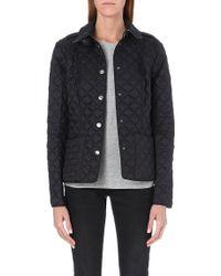 Burberry Kencott Short Waxed Coat Black - Lyst