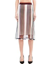 Marni Womens Gonna Chiffon Skirt - Lyst