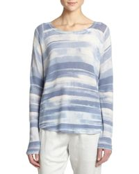 Vince Wool & Cashmere Striped Sweater - Lyst
