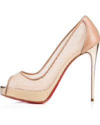 fake mens louboutin shoes - Christian louboutin Guni Embellished Leather Fishnet Pumps in Gold ...