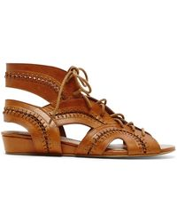 DV by Dolce Vita Flat Sandals - Wylla Lace Up brown - Lyst