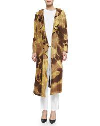 Shamask - Ruffled Giraffe-Print Suede Coat - Lyst
