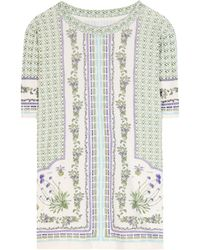Tory Burch Mary Printed Cotton Tshirt - Lyst