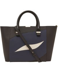 Victoria Beckham Black Quincy Wave Leather Bag - Lyst